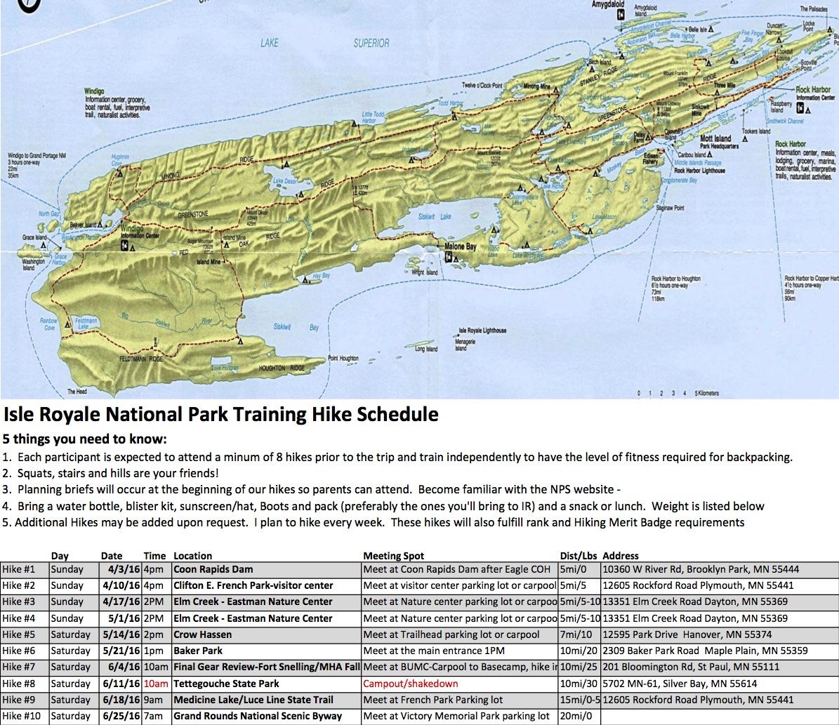 Isle Royale Part 2 Training Hikes Wandering Pine
